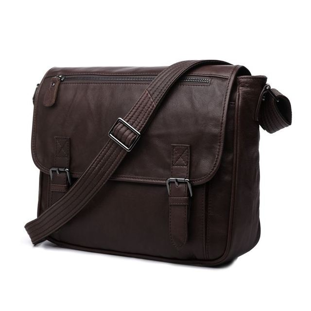 Nesitu Hot Best Quality Selection Gift Chocolate 100 Guarantee Genuine Leather Men Messenger