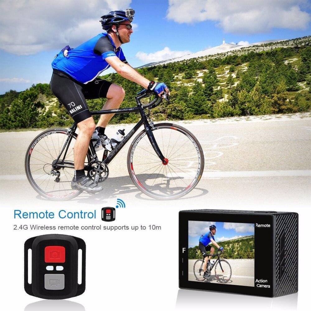 AKASO Brave 4 K 20MP Wifi caméra d'action Ultra HD avec EIS 30 m sous-marine étanche à distance sport caméscope + accessoires casque - 2