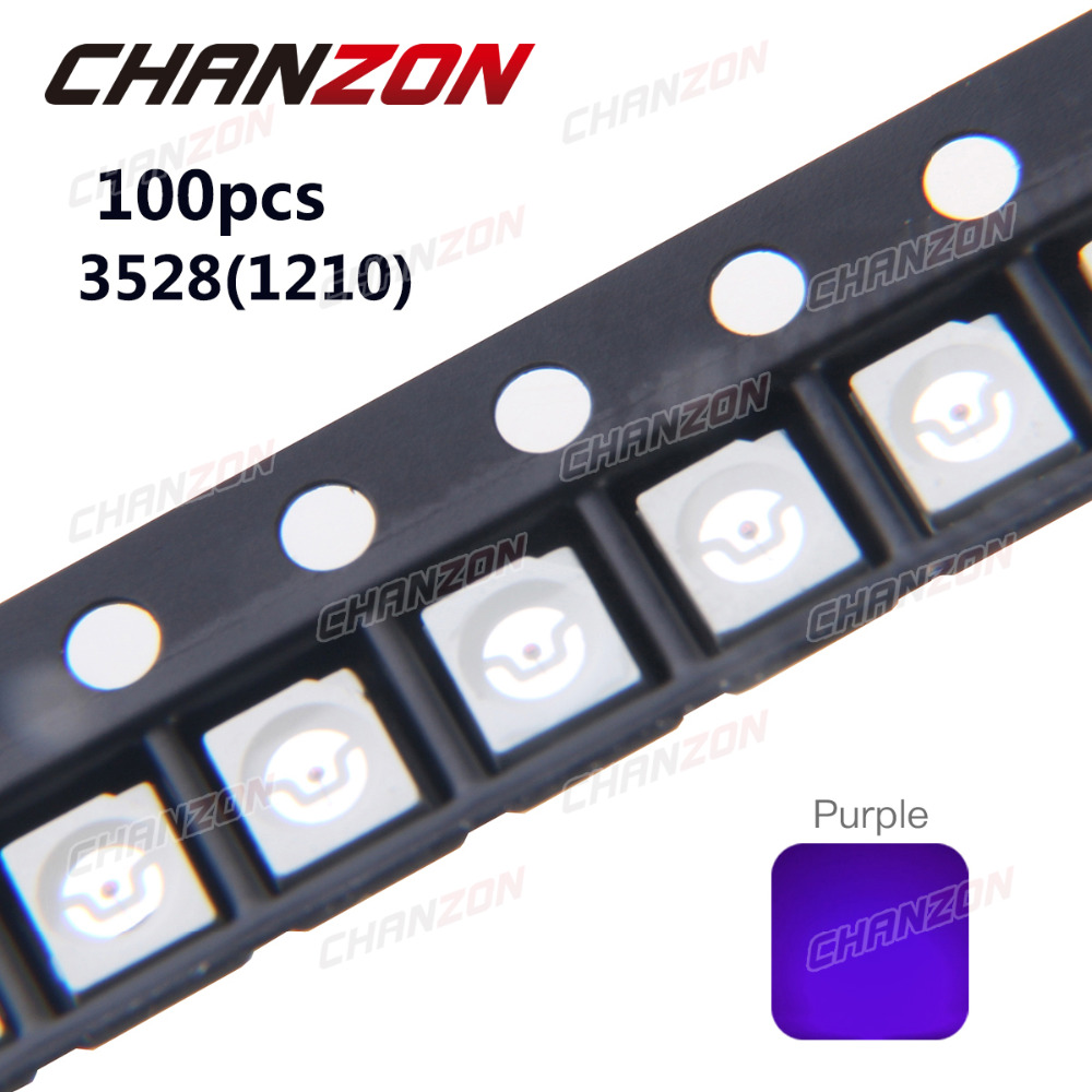 Active Components 100pcs Uv Led Smd 5050 Chip Purple Surface Mount Bead 60ma Ultraviolet 395nm 400nm Led Ultra Violet Light Emitting Diode Lamp Moderate Price