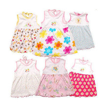 3pcs/lot   Branded Baby Dress Baby girls dress,super soft 100% cotton