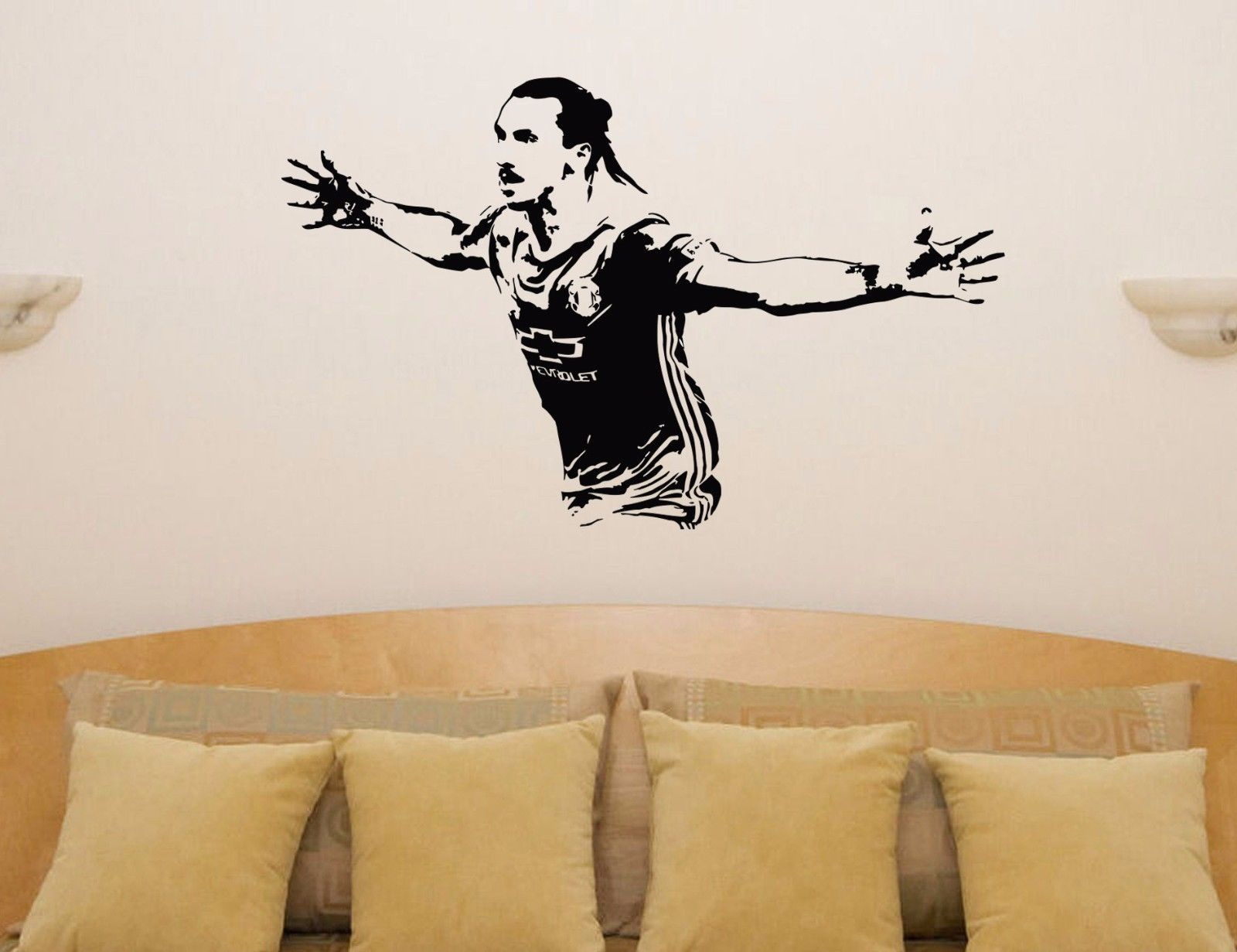HWHD os1633 kids room removable Zlatan Ibrahimovic Football Player - Home Decor