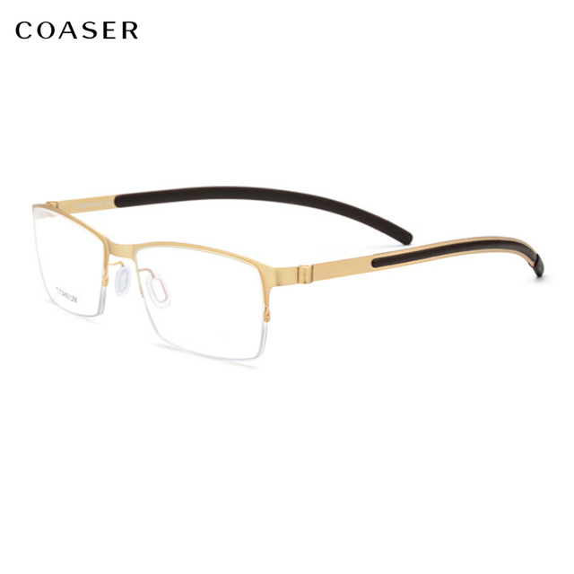5f45b96a11e New Germany High Quality Stainless Steel metal Men Glasses frame Square  eyeglasses Myopia prescription optical eyewear