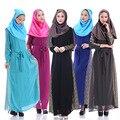 Элегантный Мусульманин Платье Моды Турецкая Абая Тонкий Турецких Женщин Одежда Шифон Женщин Платье Абая Для женщин Исламской Платья