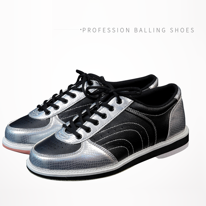 Men Women Skidproof Sole Bowling Shoes Couple Models Sports Shoes Breathable Slip Traning Shoes D0764