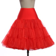 Tulle Skirts Womens Fashion High Waist Pleated Tutu Skirt Retro Vintage Petticoat Crinoline Underskirt Faldas Women Skirt Summer