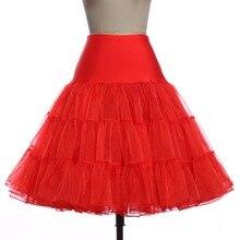 tulle skirt Women Fashion High Waist Pleated skirts womens Retro Vintage Petticoat Crinoline Underskirt Faldas tul Skirt