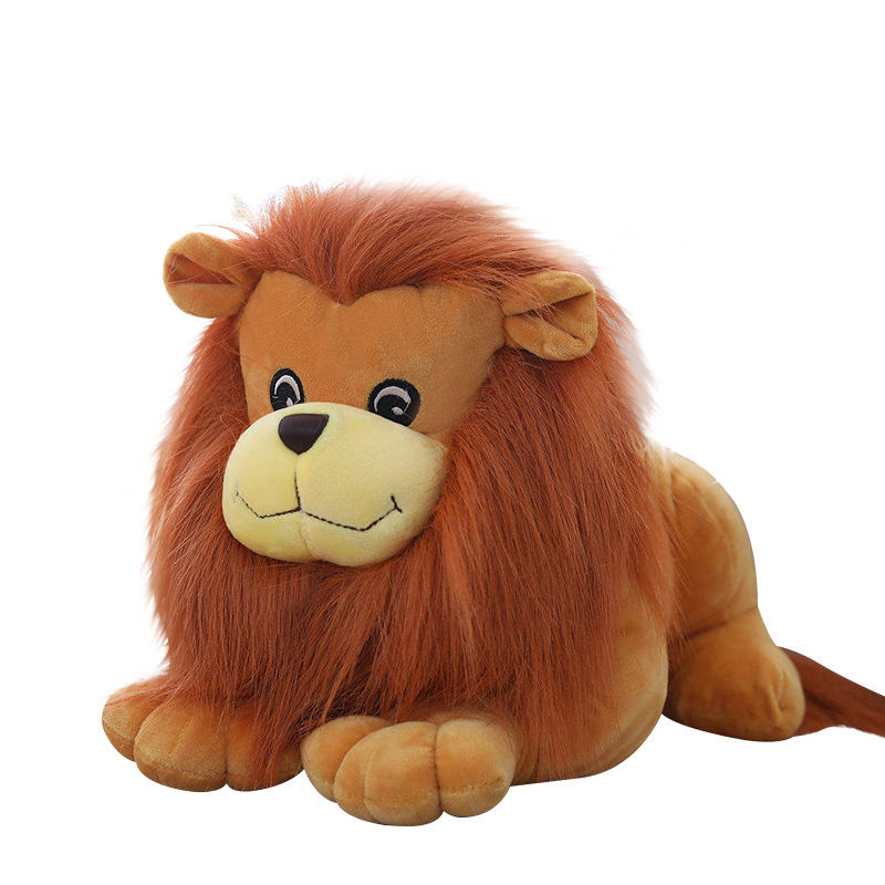 25cm Cute Forest Animal Doll Simulation Lion King Fluffy Plush Toys Soft Stuffed Lovely Doll Children Gifts Kids Brinquedos