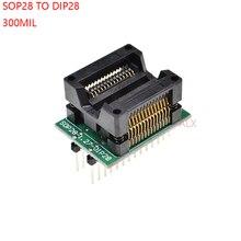 SOIC28 SOIC 28 SOP28 к DIP28 программист адаптер разъем ширина корпуса 7,5 мм 300 мил IC Разъем конвертер тестовый чип