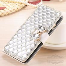 Luxury Bling Crystal Rhinestone Diamond Flip Leather Case Cover for HUAWEI Ascend P8 lite Kickstand Credit Card  Wallet Bag