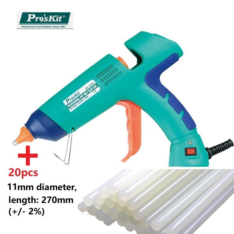 цена на Pro'skit GK-389H professional Glue Gun DIY Hot Melt Glue Sticks Glue Gun with 11mm Glue Stick for home DIY or industry use