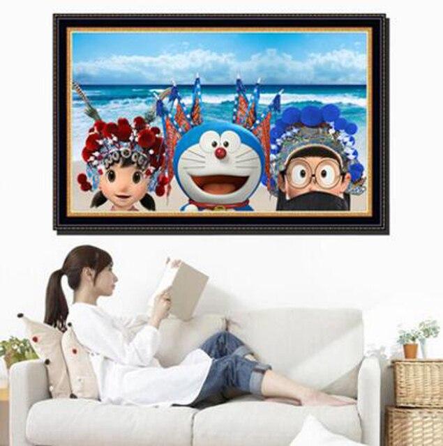 Nieuwe Ontwerp Levendige Blauw 3D Cartoon Doraemon Woonkamer ...