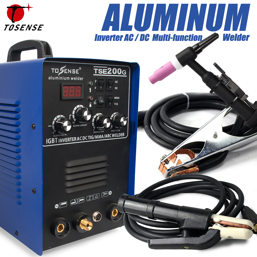 IGBT TIG/ MMA Welder TSE200G AC/ DC Square-wave Inverter 200A 4 Welding Method Machine For Aluminum, Stainless Steel, etc цена