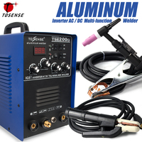 IGBT TIG/ MMA Welder TSE200G AC/ DC Square wave Inverter 200A 4 Welding Method Machine For Aluminum, Stainless Steel, etc