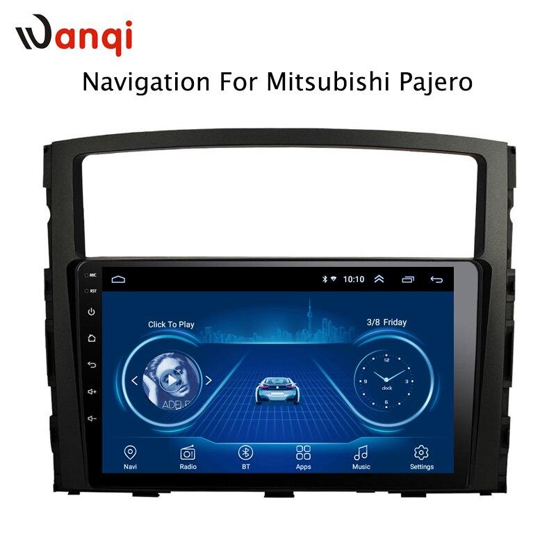 9 pouces Android 8.1 2.5D trempé HD écran tactile Radio pour Mitsubishi Pajero 2006-2011 avec Bluetooth USB WIFI support SWC