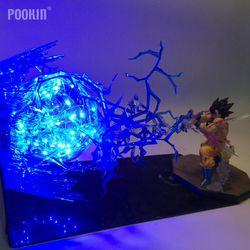 Bomba de fuerza Dragon Ball Son Goku, Luminaria LED de bola Lightning, luz nocturna, regalo de vacaciones, iluminación de Led decorativo para habitación