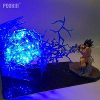 Dragon Ball Son Goku Strength Bombs Luminaria LED Lightning Ball Night Light Holiday Gift Room Decorative Led Lighting