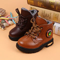 2016 New Shoes Autumn winter Baby Boy's Solid Color Martin Boots Children Boost Warm Cotton Snow Shoes Thick Plush Kids