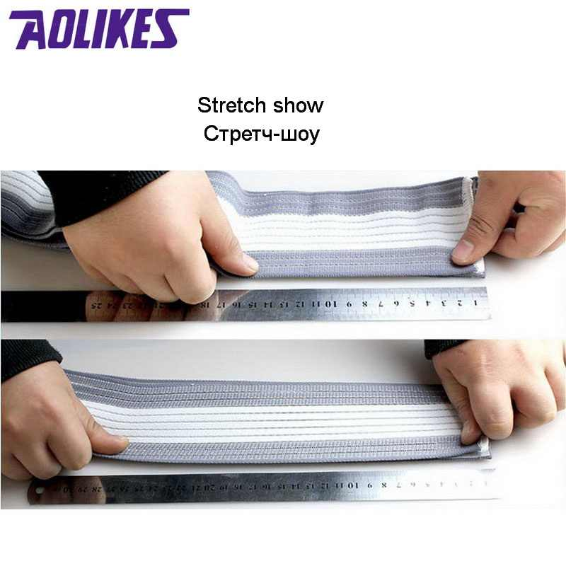 AOLIKES 1 Cái cổ tay ban nhạc nam nữ băng đàn hồi cho tay wrist strap dây bọc tập thể dục wristband sport phòng tập thể dục hỗ trợ cổ tay protector