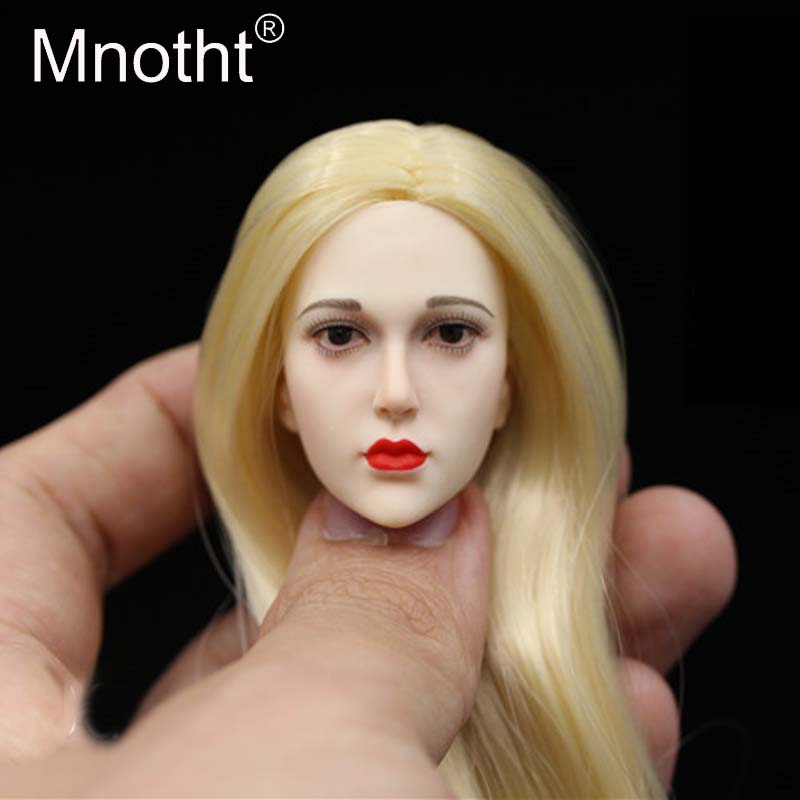 Mnotht Toys 1/6 Scale QH Female Soldier blond hair Head Sculpt Model Fit for 12in PH/HT Glue Body Action Figure Collections m3 1 6 scale wwii german admiral heydrich model action figure toys did 3r gm633 soldier toys collections m3