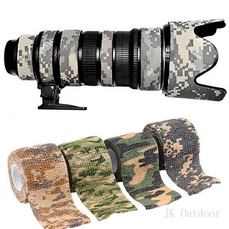 1 pc/lot  Comercio Al Por Mayor 5 cm x 4.5 m Ejército Camo Caza Camuflaje Cautel