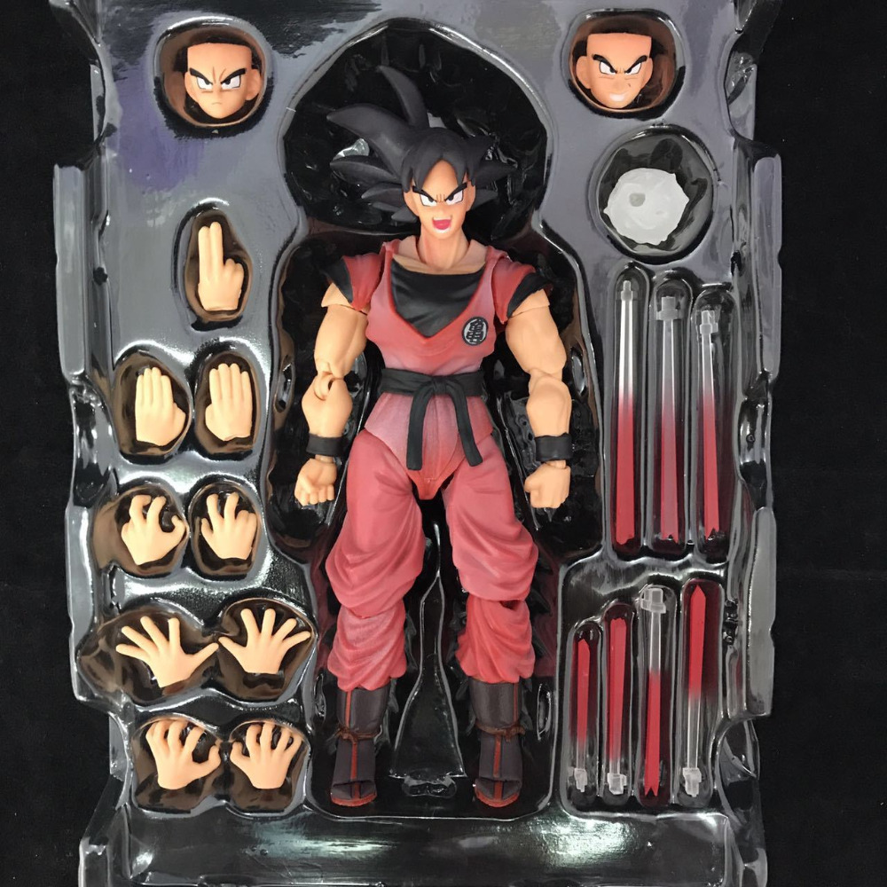 NEW hot 16cm Dragon Ball Deluxe Edition Kakarotto Son Goku action figure toys Christmas gift toy with box new hot 21cm dragon ball super saiyan 3 son goku kakarotto action figure toys doll collection christmas gift with box sy889