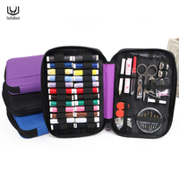 High Quality Portable Traveling Sewing Kits Bag Inside With Threads Needle Scissor Pin Outdoor Sewing Set