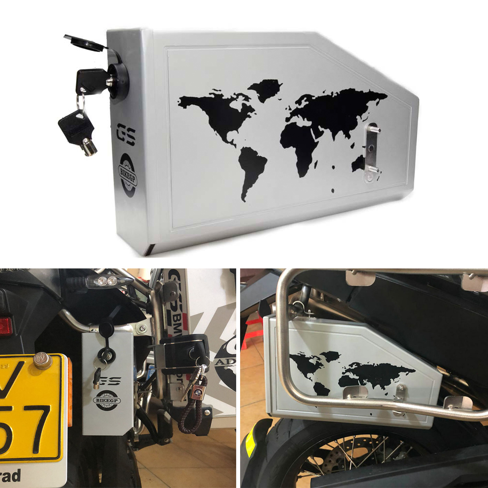 Decorative aluminum box for BMW F700GS F800GS 2013-ON Toolbox Suitable for BMW side bracket black motorcycle 36l aluminum side box storage cases kit w mount bracket luaggage box universal for triumph bmw f800gs f800r abs