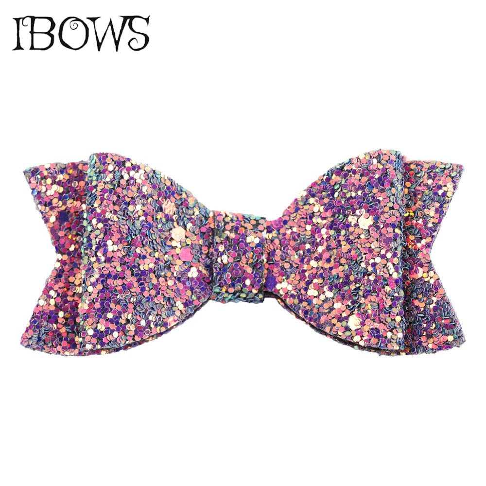 3Pcs/Lot Kids Glitter Hair Bows Boutique Bling Hair Clips For Party Girls DIY Hairgrips   Headwear   Barrette Hair Accessories