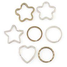 10Pcs Key Chain Rings Metal Split Ring Home Car Keys Organization DIY Keychain