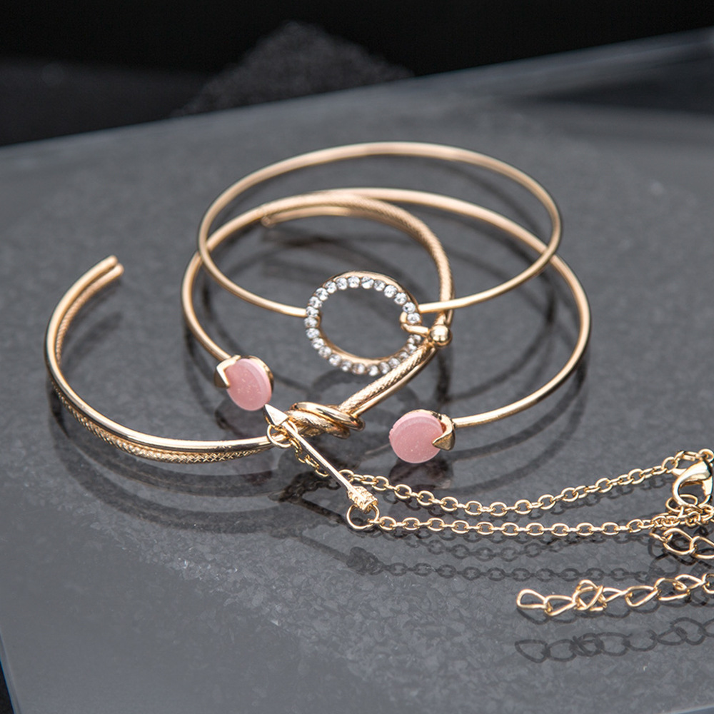 OLOEY Hot Women Brecelets Simple Knot Alloy Open Bracelet Femme Arrow Crystals Bangles Boho Hand Chain Jewelry Accessories Gifts 14