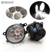 9Led Fog Light Fog Lamp For TOYOTA AVENSIS AURIS RAV 4 III CAMRY Corolla PRIUS YARIS 2003-2015 Fog Lamp Super Bright 2pcs beler front right side fog light lamp 81210 06050 35501 57l00 for toyota camry corolla yaris lexus gs350 gs450h lx570 lx570