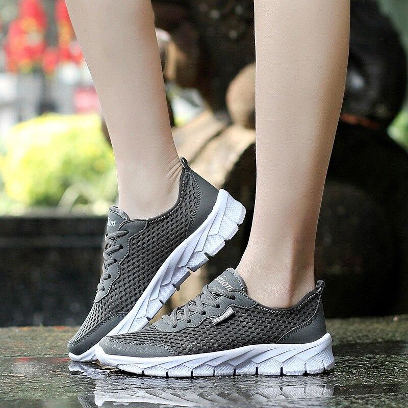 Atmungsaktive sport net schuhe 2018 frau läuft lifetyle licht größe outdoor Wandern frauen turnschuhe Zapatos Mujer