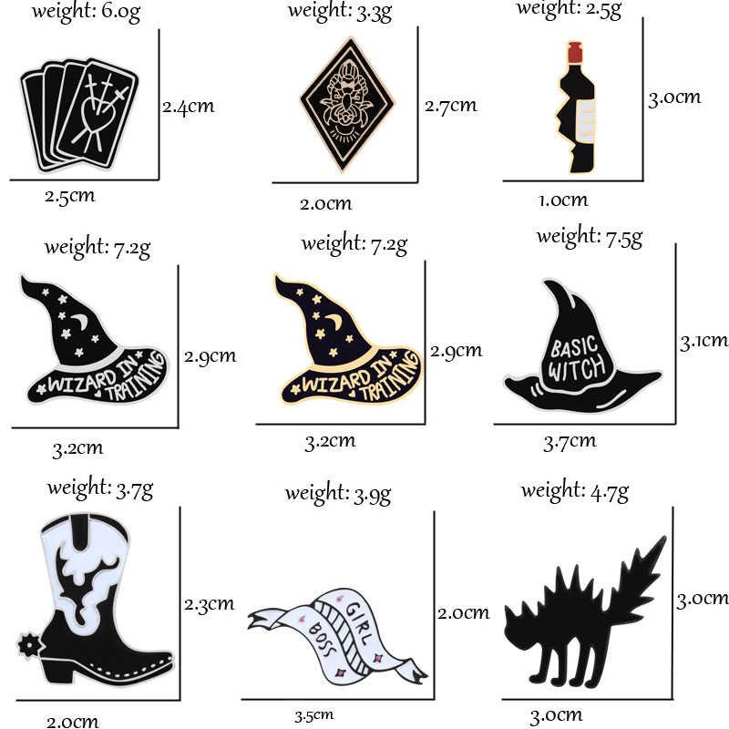 Dark Fashion Enamel Pins Shoes Boots Poker Book Eagle Brooch for Man Women Punk Cowboy Sweater Coat Decoration Fashion jewelry
