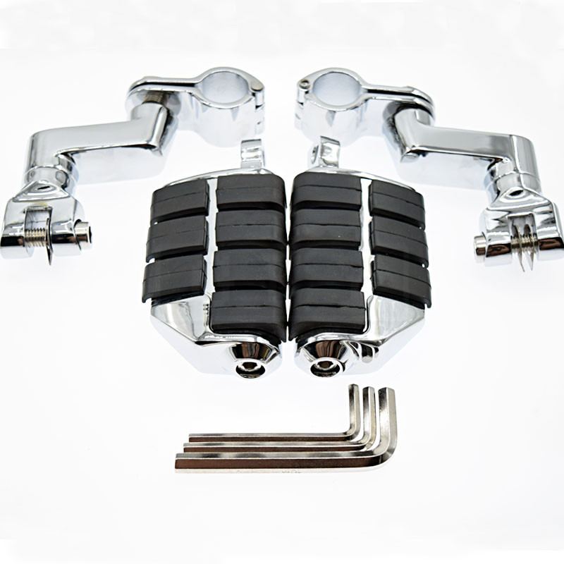 1 Kuryakyn Dually Highway Clamps Large Foot Pegs For Honda GoldWing For Honda GL1800 GL 2001 2002 2003 2004 2005 2006 2007-2011