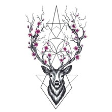 BEST Fran lcw113 NEW SIOZRE Temporary Tattoo For Women Tattoo Body Art 9.8X6cm Waterproof Hand Fake Tatoo Sticker Elk Animal
