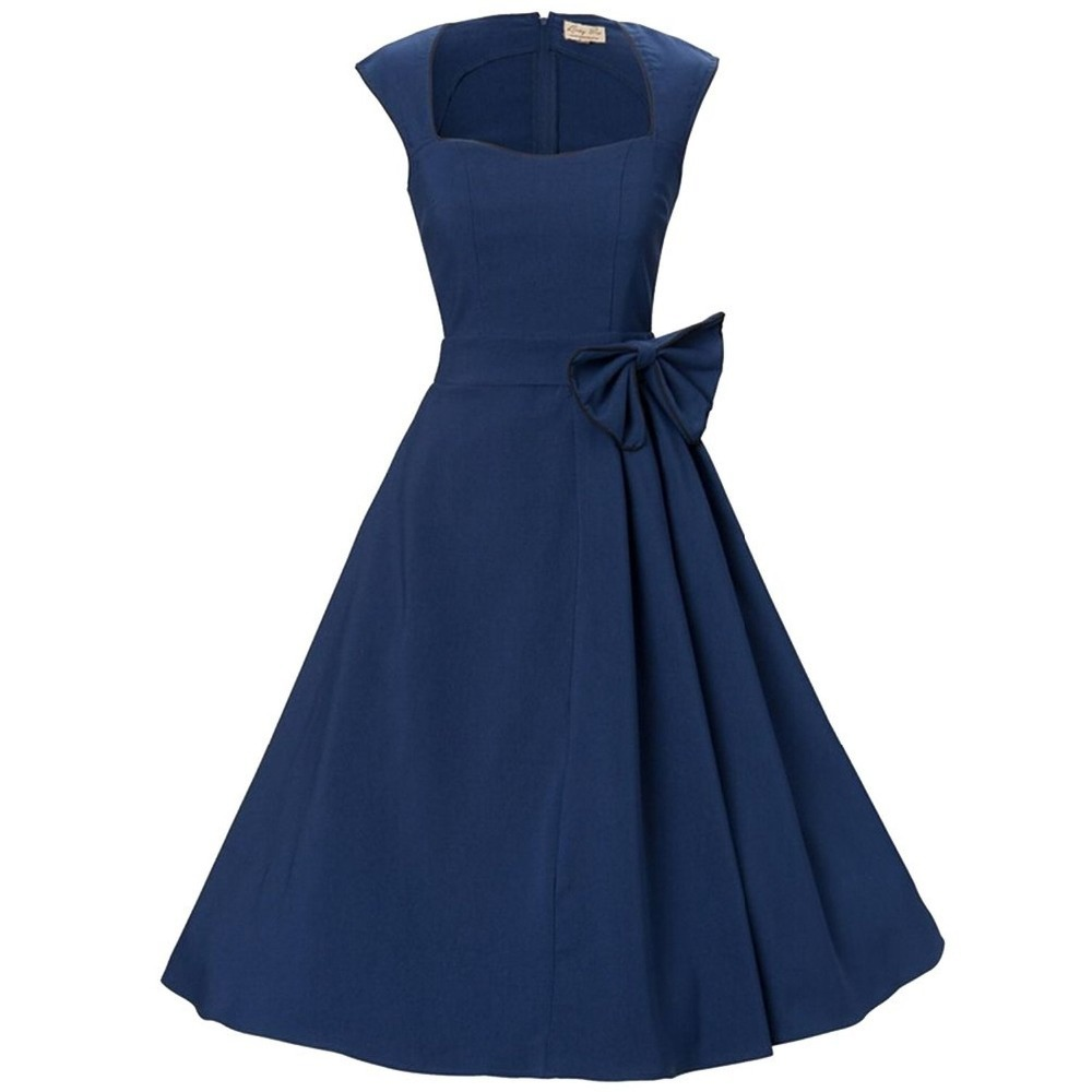 Wommen 50s 60s audrey hepburn vintage retro swing dresses party wommen 50s 60s audrey hepburn vintage retro swing dresses party gowns cap sleeve bridesmaid dresses with bow in bridesmaid dresses from weddings events on ombrellifo Image collections
