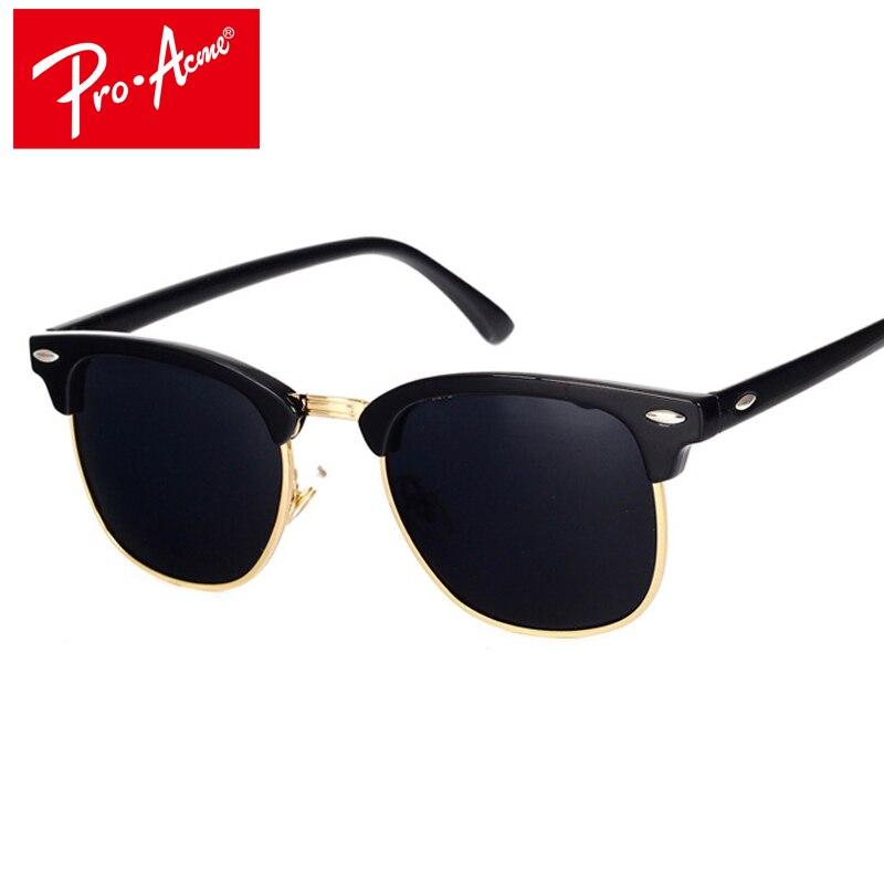 Pro Acme Classic Brand Polarized Sunglasses Men Women  Half Metal Mirror Unisex  Sun Glasses Gafas Oculos De Sol UV400 CC0832