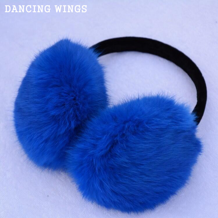 10 Colors Real Rex Rabbit Fur Earmuff Natural Fur Earlaps Unisex Earmuffs Fashion Winter Warm Soft Earmuffs