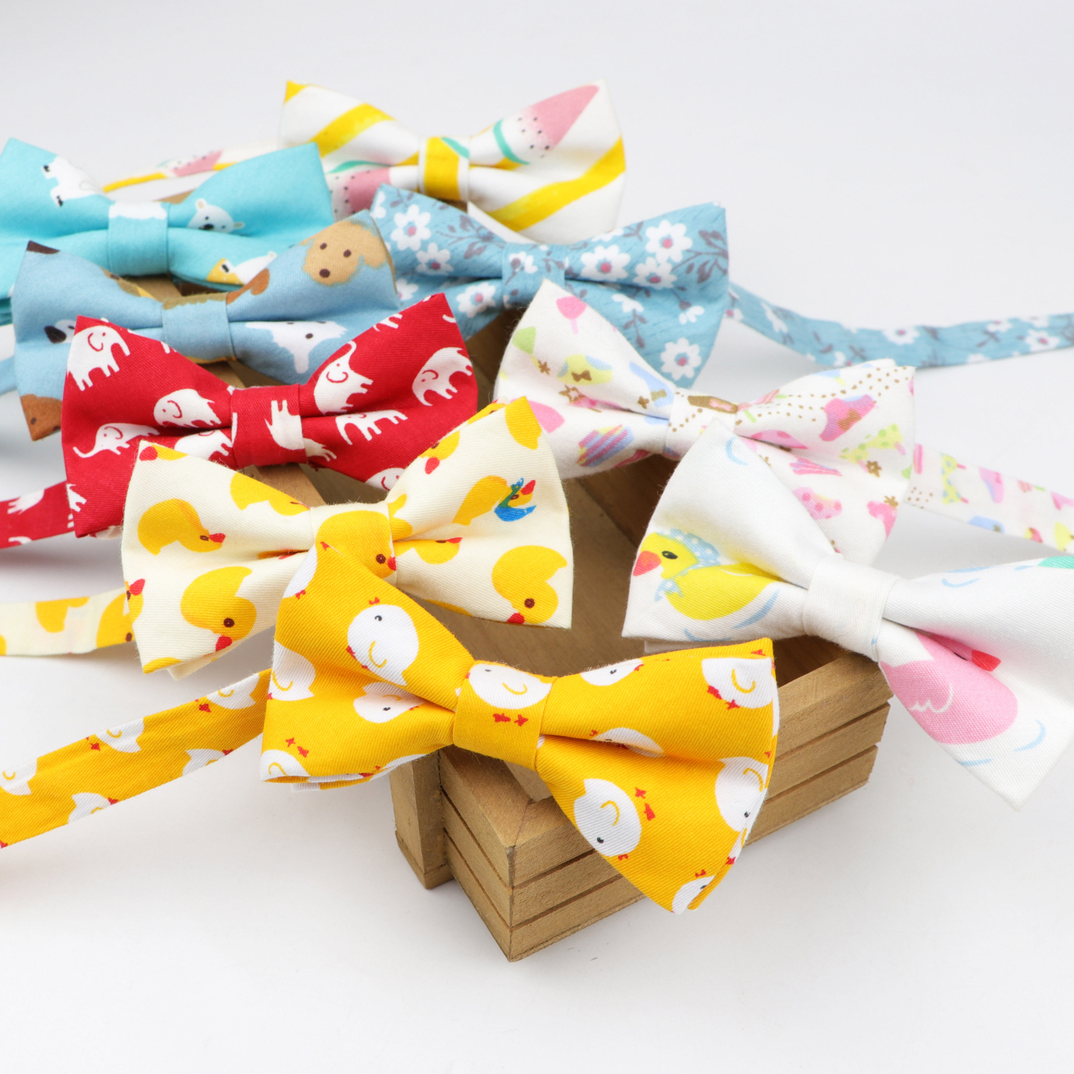 Classic Kid Suit Bowties Baby Boy's Baby Butterfly Fashion Cotton Adjustable Bowtie Children Two Tone Pet Dog Cat Bow Tie