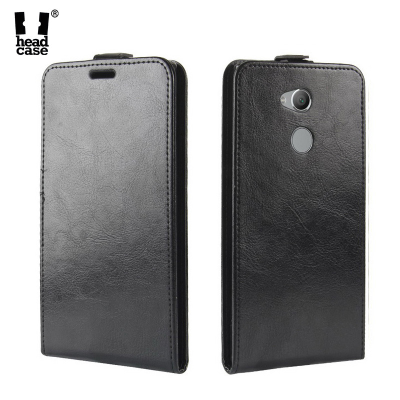 Head Case For Sony Xperia L2 Case Crazy Horse Flip Leather Case for Sony Xperia XA2 Ultra XA1 Plus Vertical Magnetic Cover