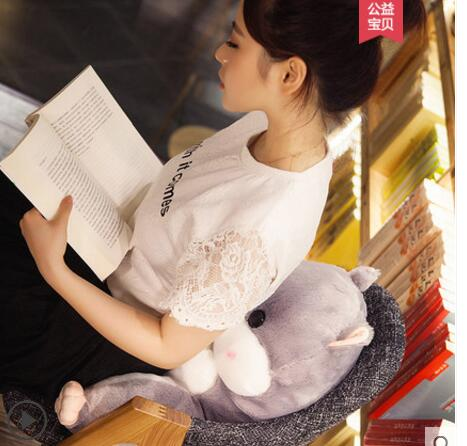 Home Textile 45x40cm Fish Shape Cushion Blanket Plush Soft Cartoon Cute Pillow Dual Use Office Sleeping Blanket Chair Seat Cushion Almofada