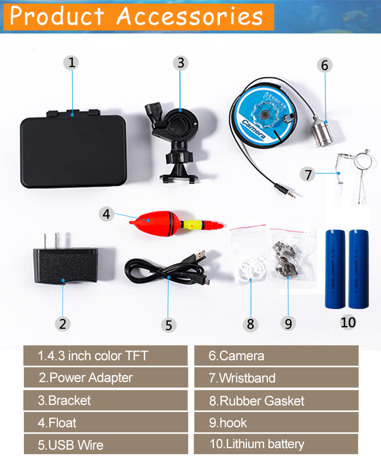 HD 1000TVL Underwater Fish Finder Video Camera for Fishing