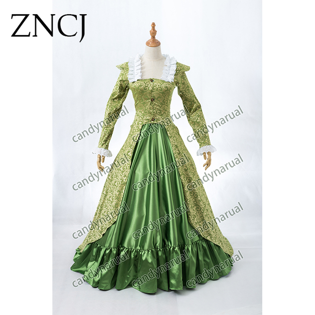 ZNCJ Long Medieval Princess Costumes Medieval Renaissance Gown Victorian  Belle Ball Lolita Dress fd466e5e6167