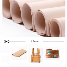 DQK leather vegetable tanned leather 1.5mm thickness high qu