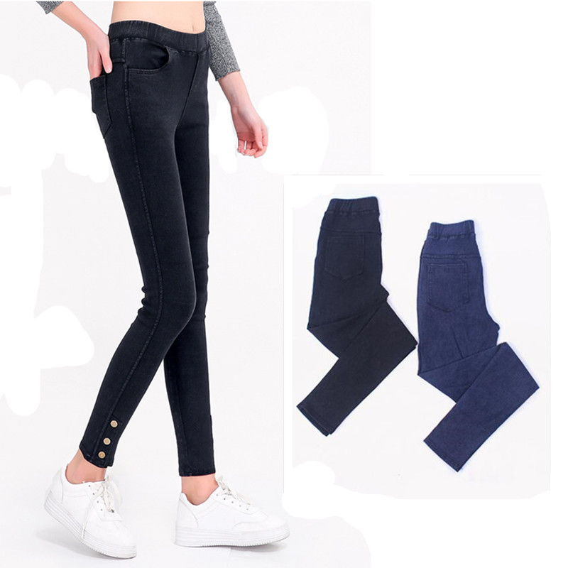 a35dcd3d86c Detail Feedback Questions about Spring Summer High Waist Breathable Elastic  Waist Slim Leggings Women Plus Size 5XL Pants Fitness Jean Legging Single  ...