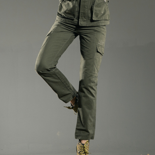 Free Army Brand High Quality Plus Size Casual Women Pants Skinny Full Length Army Green Lady Winter Trousers Outdoors GK-9379A