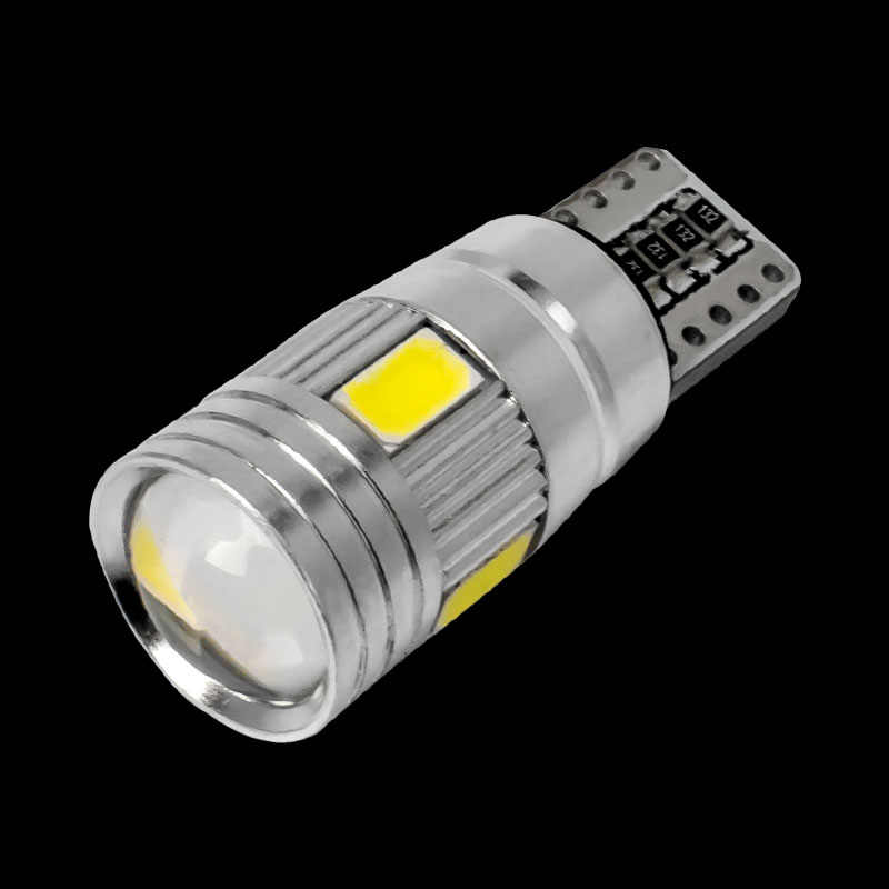 T10 Super Bright 6 SMD 5630 LED CANBUS NO ERROR Auto Wedge Lamp WY5W 192 194 W5W 6SMD 5730 LED Car Marker Light Parking Bulb 12V