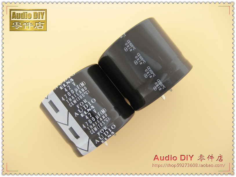30pcs Elna For Audio (Law) 4700uf/42v 105 C Electrolytic Capacitor For Audio Use In Thailand Free Shipping