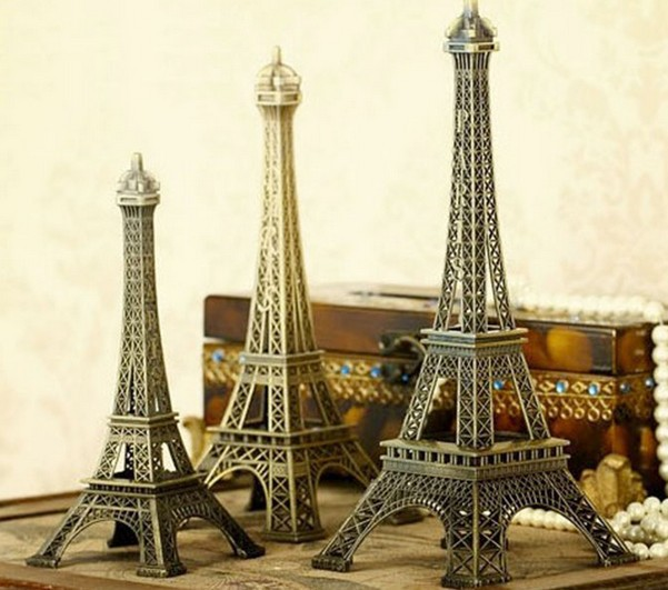 5pcs Lot Home Decoration Eiffel Tower Model Tourism Souvenirs Photos Props 15cm China