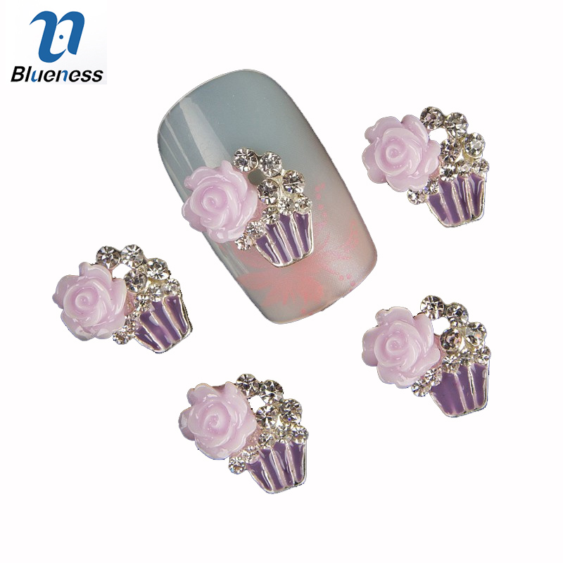 Blueness 10Pcs 3D Nail Art Charms Jewelry Adhesive UV Gel Rhinestones Decoration For Manicure Rose Design Glitter Nails TN322 18 high quanlity lovely american princess baby hot girl doll lifelike baby dolls for girls
